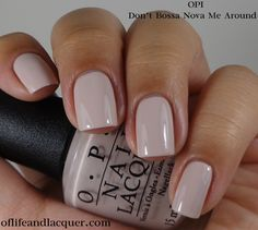 OPI: ★ Don't Bossa Nova Me Around ★ OPI Brazil Collection Spring / Summer 2014 ... good neutral polish for work / office & great base for nail art.