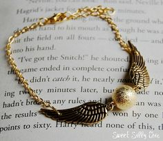 All Gold Golden Snitch Bracelet by SweetSillyChic, $16.50
