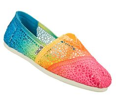 Summer is coming and I cant wear flip flops because of the lack of arch support....Buy SKECHERS Women's Bobs Plush - Joyful Casual Flats only $49.00