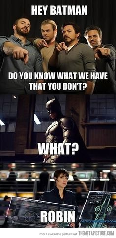Do you know what we have that you don't? | Avengers  Batman