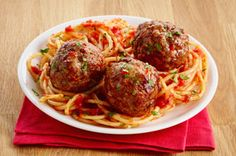 The Italian dressing both provides flavour and added moistness to this simple, y. - The Italian dressing both provides flavour and added moistness to this simple, yet versatile, meatb - Zucchini Meatballs, Tasty Meatballs, Italian Meatballs, Lamb Meatballs, Kraft Recipes, Pasta Recipes, Baking Recipes, Kraft Foods, Cooking