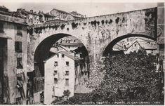 Via Eugenia Ravasco, Genova (ponte di Carignano) ca. Vintage Italy, Old Postcards, Source Of Inspiration, Vintage Photographs, Brooklyn Bridge, Old Town, Past, Old Things, Zen