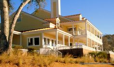The Brick Landing Plantation clubhouse in Ocean Isle Beach overlooks the Intracoastal Waterway