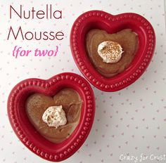 Nutella Mousse {for two} - Crazy for Crust
