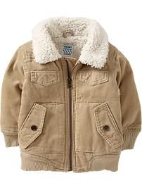 $29.94 Sherpa-Lined Corduroy Jackets for Baby