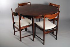 Rare dining set  by Torbjørn Afdal for  Bruksbo Norway 1958-62. Price: 32500 SEK (Swedish Kronor) = $5006.56