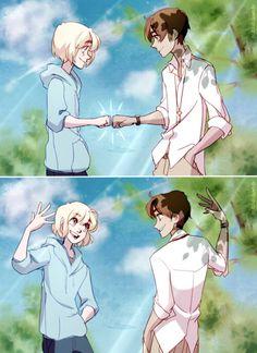 Eren and armin bein pals