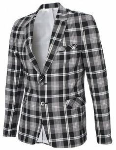 FlatSeven Plaid checked blazers (size small) Thing 1, Checked Blazer, Slim Man, Tartan Plaid, Blazers, Fitness, Gift, Jackets, Men