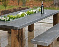 béton beau modèle de table