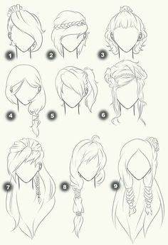 Cut Take Text Nullipara Girls Hairstyles How To Draw Manga Anime . - Cut Take Text Nullipara Girls Hairstyles How To Draw Manga Anime Hair # - Drawing Techniques, Drawing Tips, Drawing Sketches, Painting & Drawing, Hair Styles Drawing, Drawing Ideas, Hair Styles Anime, Drawing Style, Anime Drawing Tutorials