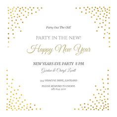 corner shots free new year invitation template greetings island