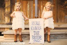 Cute idea for flower girls!