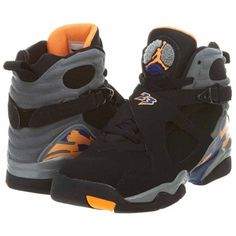 Nike Youth (BOYS) Air Jordan 8 Retro Basketball Shoes ($142) ❤ liked on Polyvore featuring shoes, jordans, sneakers, baby clothes and nike