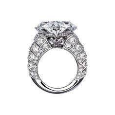 "CARTIER. ""Pur Absolu"" Ring - platinum, one 30.21 carat D IF pear-shaped diamond, brilliant-cut diamonds. #Cartier #CartierRoyal #2014 #HauteJoaillerie #HighJewellery #FineJewelry #Diamond"
