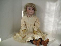 Antique German Large Bisque Head Doll   eBay