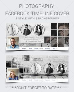 Photography Facebook Timeline Cover — Photoshop PSD #fb #facebook • Available here → https://graphicriver.net/item/photography-facebook-timeline-cover/8181929?ref=pxcr