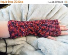 ON SALE Fancy Lace Fingerless Hand by KnittingBlissDesigns on Etsy Lace Gloves, Fingerless Gloves, Bicycling, Sell On Etsy, Early Morning, Red Black, Arm Warmers, Hand Knitting, Fancy