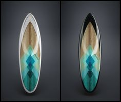 I love this design. Great colours and the wood underneath! Surfboard Painting, Surfboard Art, Sup Surf, Skate Surf, Wood Design, My Design, Wooden Surfboard, Surf Style, Paddle Boarding
