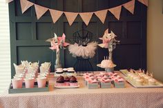 Ballerina Birthday Party Part 2: Dessert Table -