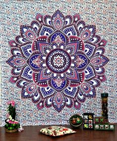 Large Hippie Tapestry Mandala Bohemian Bedspread Throw Wall Beach