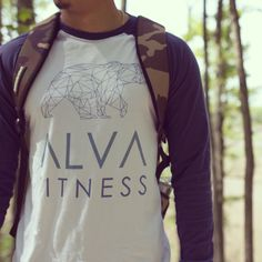 ALVA Geometric Bear baseball tee running out of stock! Get yours today at alvafitness.com