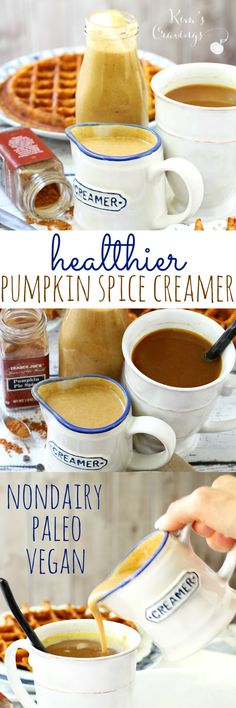 Before you drop a bunch of dough on the Pumpkin Spice Latte at Starbies, give this healthier pumpkin spice creamer a try! The better-for-you, dairy-free, paleo, gluten-free, vegan creamer is full of lovely Fall flavors, without all of the added junk.