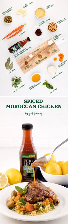 Add a little spice to dinner tonight with this slow cooked Spiced Moroccan Chicken by Gail Simmons. No oven or stove needed!
