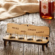 Wood Projects For Beginners, Projects To Try, Wood Wine Bottle Holder, Wood Crafts, Diy And Crafts, Router Projects, Shot Glass Set, Laser Cut Wood, Valentines Diy