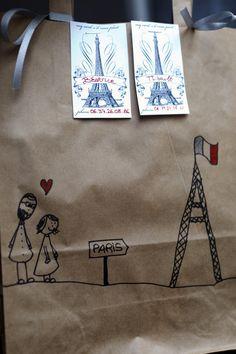 Paris inspired wedding stationery