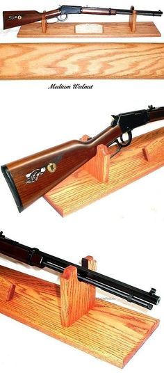 Details about Oak Gun Rack Stand Antique Rifle Shotgun