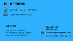 Want to Learn Blueprism Visit us we Are Providing the best Service to the people Who want to learn Blueprism Blueprism Training in hyderabad with affordable cost