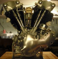 Beautiful Knucklehead Motor