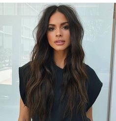 Long Wavy Ash-Brown Balayage - 20 Light Brown Hair Color Ideas for Your New Look - The Trending Hairstyle Brown Hair Shades, Brown Blonde Hair, Light Brown Hair, Brown Hair Colors, Dark Brown Long Hair, Dark Brunette Hair, Hair Styles Brunette, Dark Brown Hair Highlights, Short Curly Hair