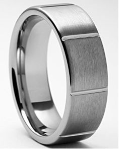 Cicero Brushed Tungsten Carbide Ring-A true man's ring. Engagement Jewelry, Wedding Engagement, Wedding Bands, Tungsten Carbide Rings, Stylish Rings, Off Black, Great Christmas Gifts, Valentine Day Gifts, Valentines