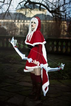 Ashe lol League of Legends christmas xmas merry christmas happy holidays costume outfit cosplay christmas outfit cute kawaii archer holly video games video game cosplay gaming #anime #cosplay #costume #otaku #gamer #videogames