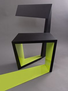 Serbian architect Ivo Otasevic of Otako Architects has designed a chair that looks like the letter 'a'.
