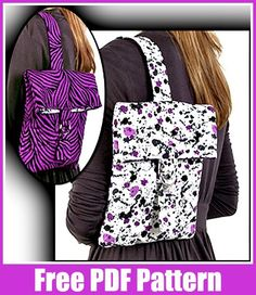 A free sewing project from Fabric Editions to download for a hip sling bag! This is an easy sewing project that is pre-quilted using a basic quilting pattern perfect for beginners. The quiltedCit…