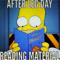 After leg day reading material