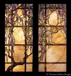 Wisteria leaded glass  - Theodore Ellison Designs