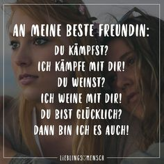 To my best friend: you fight? - VISUAL STATEMENTS® - Sprüche/Sayings - Gesundheit Bff Quotes, Friendship Quotes, Happy Quotes, Motivational Quotes, Funny Quotes, Inspirational Quotes, True Friends, Best Friends, Dear Best Friend