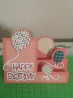 Stephanie Barnard Balloons Step-Ups die with Stampin' Up! cardstock and DSP.