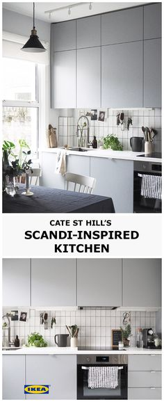 Combine minimalistic Scandi design and plenty of greenery, such as herbs and plants, to bring your kitchen to life. Consider sleek, grey units alongside simple, monochrome tiles, and complement with natural textures, such as a painted wooden floor. Find out more about our kitchen solutions at IKEA.co.uk.