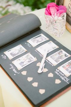 Creative Guest Book Ideas For Wedding Reception - Polaroid guest book and a space to sign and leave a note. Wedding Bells, Diy Wedding, Wedding Reception, Dream Wedding, Wedding Day, Going Away Parties, I Got Married, Here Comes The Bride, Marry Me