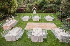 Inexpensive backyard wedding decor ideas (30)