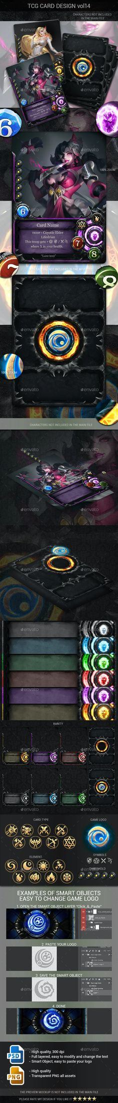TCG Card Design Vol 14 by B-Gfx | GraphicRiver Game Card Design, Game Interface, Game Assets, Game Logo, Card Games, Artist, Artwork, Cards, Work Of Art