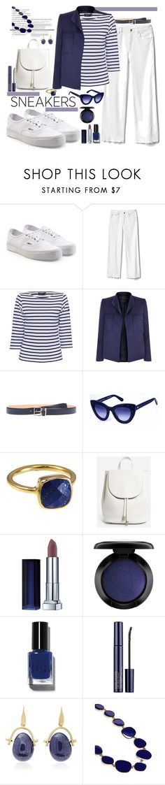 """White Sneakers"" by marionmeyer ❤ liked on Polyvore featuring Vans, Gap, Saint James, ESCADA, Acne Studios, Kate Spade, Everlane, John Lewis, Bobbi Brown Cosmetics and Estée Lauder"