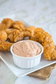 Cane's Sauce is a hearty mixture of mayo, ketchup, and other spices. So easy, so good!