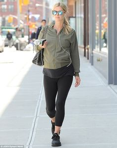 Getting it right: Nicky Hilton, 32, managed to merge both style and comfort successfully w...