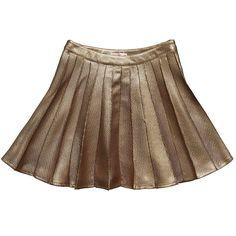 Rita Co Gold Pleated Skirt | Childrensalon