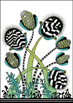 Love this Zentangle pattern and think it would be fabulous on an accent cushion or turned into fabric.   Maybe its time to try making one of my own??    via raile.typepad.com